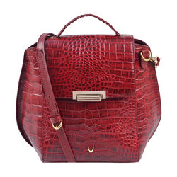 Hidesign X Kalki Alive 03 Women's Sling bag, Croco Melbourne Ranch,  red