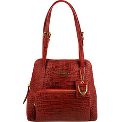 109 01 Women's Handbag, Croco,  red