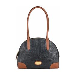 Saturn 03 Sb Women's Handbag, Croco Melbourne Ranch,  black