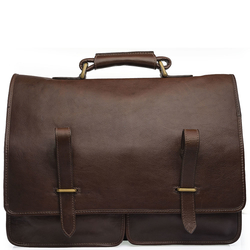 Parma Briefcase,  brown, ranchero