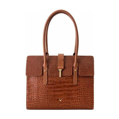 Mocha 02 Women s Handbag, Croco,  tan