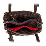 109 01 Handbag, croco,  red