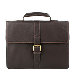 Ee Bennett 1 Briefcase, Regular Printed,  brown