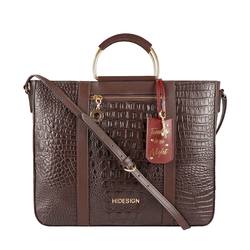 AFFAIR 03 WOMENS HANDBAG BABY CROCO,  brown