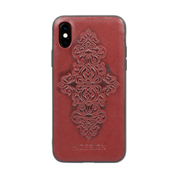 IPHONE X MOBILEPHONE CASE SOHO EMBOSS,  marsala