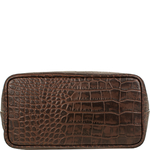 Bonn Handbag,  brown, croco