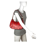 Keaton 02 Women s Handbag, E. I. Leaf Emboss Melbourne Ranch,  dark red