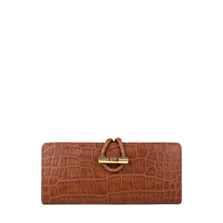 Epocca W2(Rfid) Women's Wallet, Croco,  tan