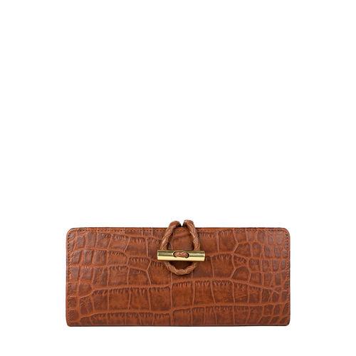 Epocca W2(Rfid) Women s Wallet, Croco,  tan