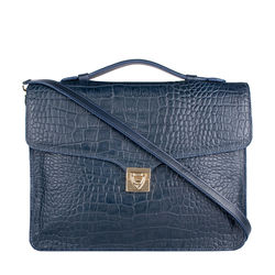 Stampa 03 Women's Handbag, Croco Melbourne Ranch,  blue