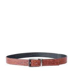 ERIC MENS BELT CROCO,  tan