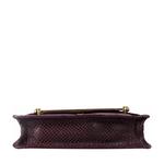 Delilah 01 Women s Handbag Snake,  aubergine