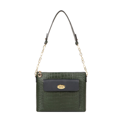 EE MOROCCO 01 WOMENS HANDBAG CROCO,  emerald green