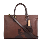 Rose 01 Women s Handbag, Rose Emboss Mel Ranch Split,  brown
