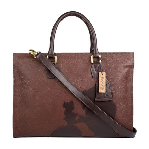 Rose 01 Women s Handbag, Rose Emboss Mel Ranch Split,  brown
