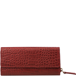 526 Women s wallet, Croco Ranch,  red