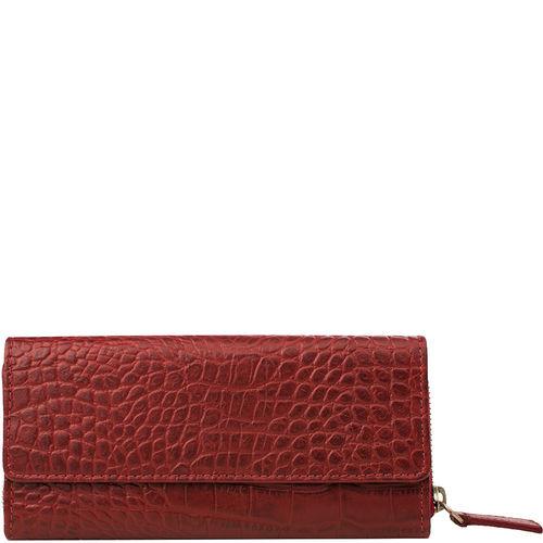 526 Women s wallet, Croco,  red