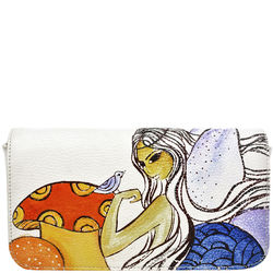 The Cheshire Cat Handbag, cow deer,  white