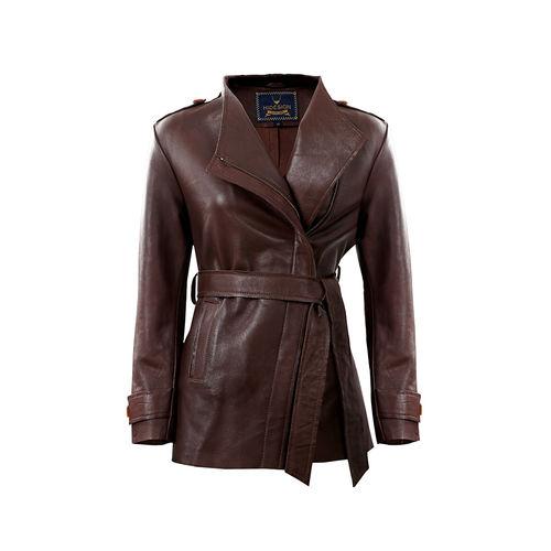 Bianca Women s Jacket Polished Lamb,  brown, m