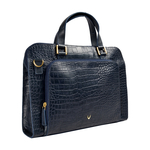 Biscotte 02 Women s Handbag, Croco Melbourne Ranch,  blue