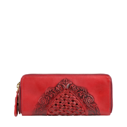BELLE STAR W4 (RF) WOMENS WALLET EI EMBOSS,  red