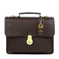 Lucca Briefcase,  brown, regular