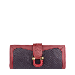 EE FRIEDA W1(RFID) WOMEN'S WALLETS SNAKE,  aubergine