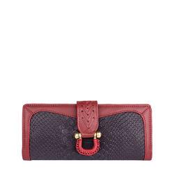 Ee Frieda W1 Women's wallet, Snake,  aubergine