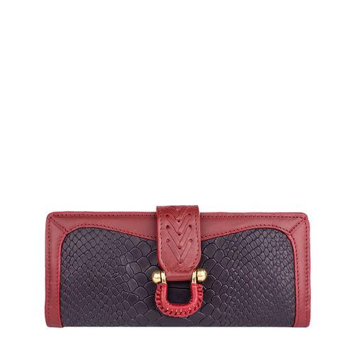 Ee Frieda W1 Women s wallet, Snake,  aubergine