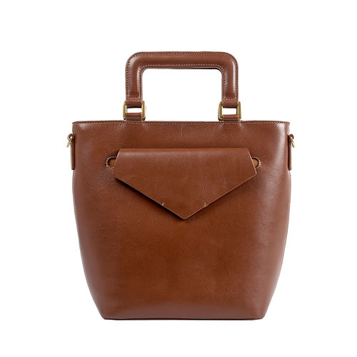 HIDESIGN X KALKI Evolve 01 Women s Handbag, Dakota Mel Ranch,  tan