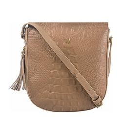 Rive Gauche 03 Women's Handbag, Baby Croco,  nude