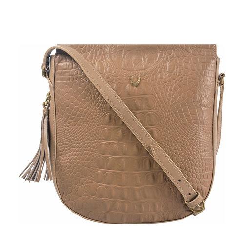 Rive Gauche 03 Women s Handbag, Baby Croco,  nude