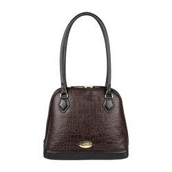 Ee Cleo 01 Handbag, croco,  brown