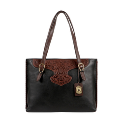 SALLY SCULL 01 WOMENS HANDBAG IDAHO,  black
