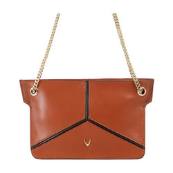 HIDESIGN X KALKI STAR 02 SLING BAG DENVER,  tan