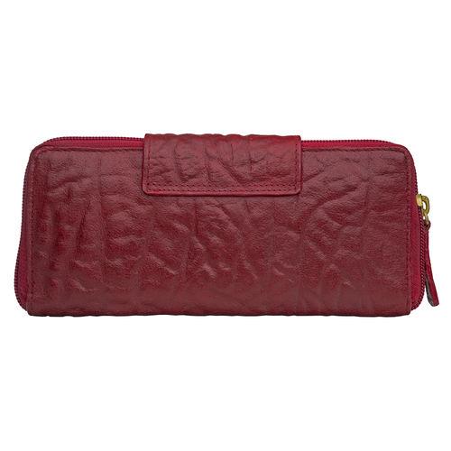Amore W2 (Rfid) Women s Wallet, Elephant Lamb,  red