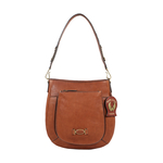 METAL 02 WOMENS HANDBAG KALAHARI,  tan