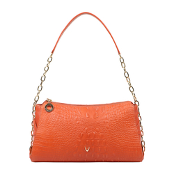 CHARLESTON 03 WOMEN'S HANDBAG BABY CROCO,  lobster