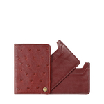 CHATEAU 03 CARD CASE OSTRICH,  brown