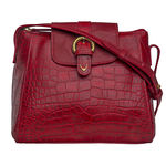 Sb Lyra Women s Handbag, Croco Ranchero Red Red,  red