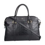 Lovato 01 Women s Handbag, Croco Melbourne Ranch,  black