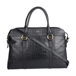 Lovato 01 Women's Handbag, Croco Melbourne Ranch,  black