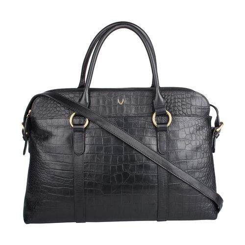 Lovato 01 Women s Handbag, Croco Melbourne Ranch,  black