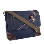 Cherokee 01 Men s Messenger Bag, Canvas E. I Goat,  navy blue