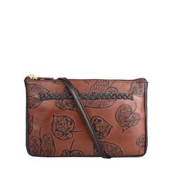 Meryl W2 Women's Wallet, E. I. Leaf Emboss Roma,  tan