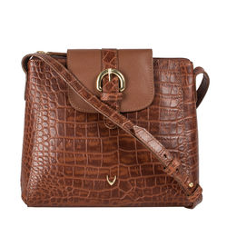Sb Lyra Women's Handbag Croco,  tan