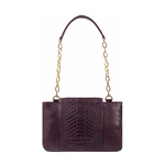 Aquarius 01 Sb Women s Handbag Snake,  aubergine