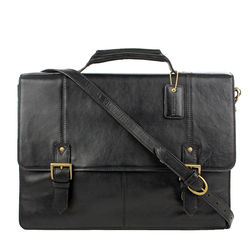 Charles 03 Briefcase, regular,  black