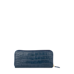 Carly W3 (Rfid) Women s Wallet, Croco Melbourne Ranch,  blue