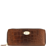Claea W2 Women s Wallet, Cement Croco Lamb,  tan, croco